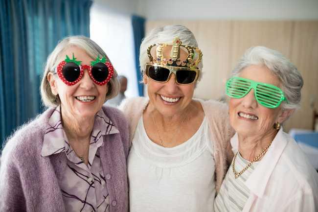 Seniors being social