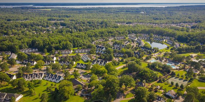 Aerial of Williamsburg Virginia